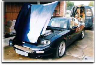 Aston Martin DB7.  Prestige and clasic cars form part of our workload